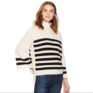 NWT Joie lace up sailor sweater
